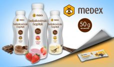 Telop: MEDEX protein drinks